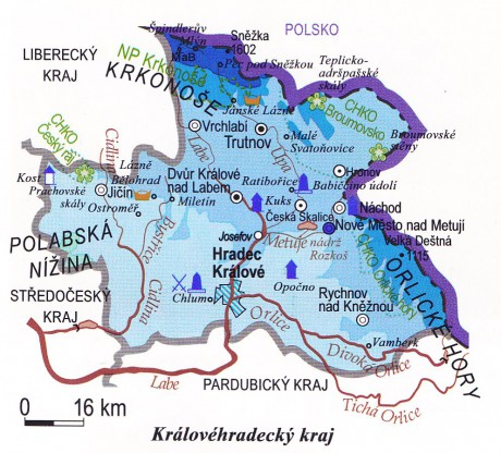 On Line Procvicovani Fotoalbum Kraje Kralovehradecky Kraj Mapa